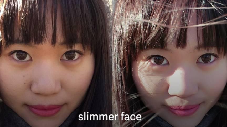 slimming face casio camera