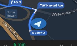 google navigation bubbles