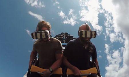 vr ride roller coaster