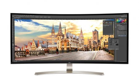 LG 38-inches curved monitor