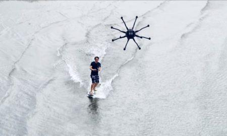 Alta 8 drone surfing