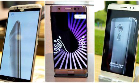 Samsung, ZTE, Huawei