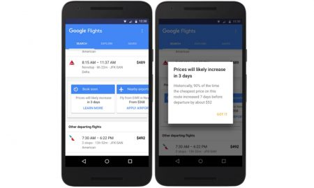 Google Travel Notifications