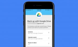 google drive iphone backup