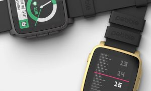Pebble Fitbit smartwatch