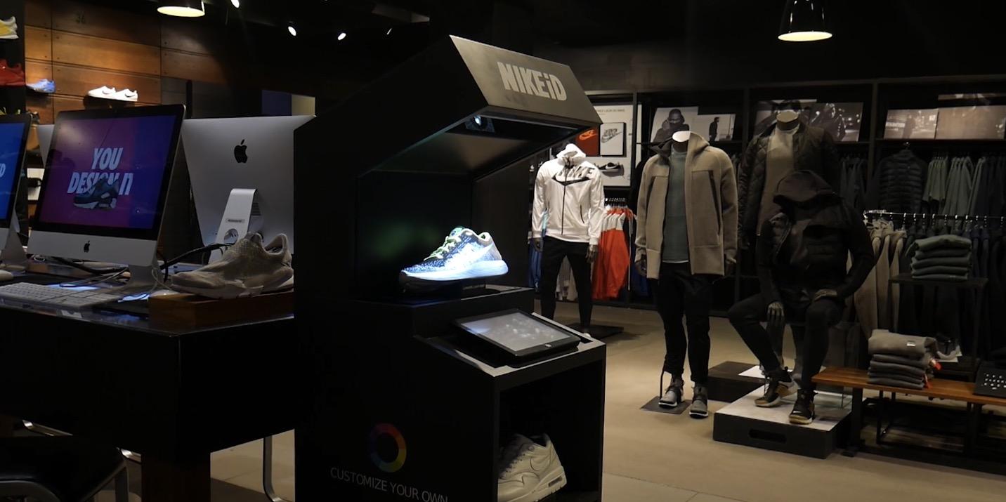 nike augmented reality paris store