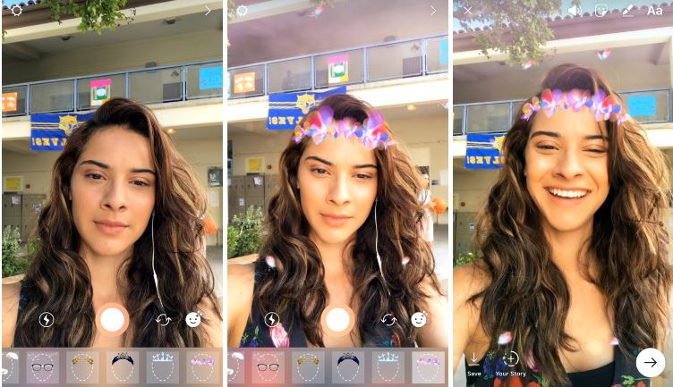 instagram stories face filters