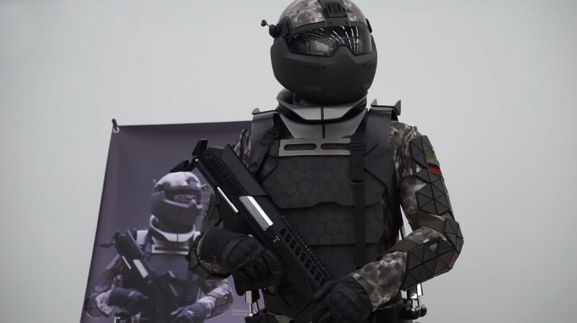 combat russia cyborg suit