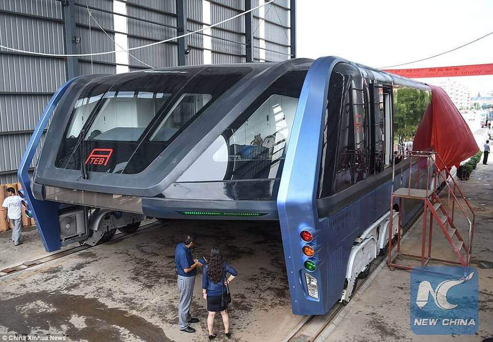 elevated bus china