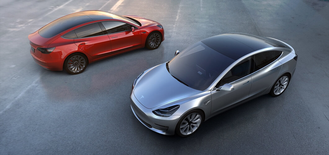Tesla Model 3 electric car self-driving car launch specs and pricing