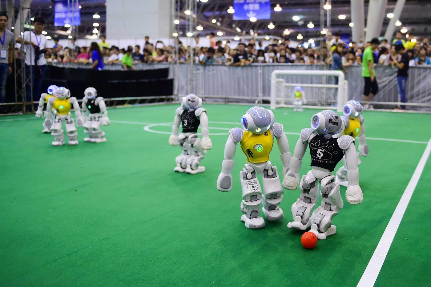 RoboCup 2017 robots soccer players humanoid robots Pepper