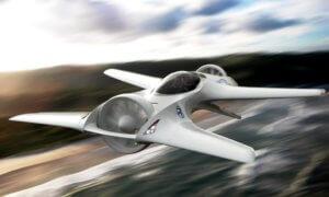 delorean flying car