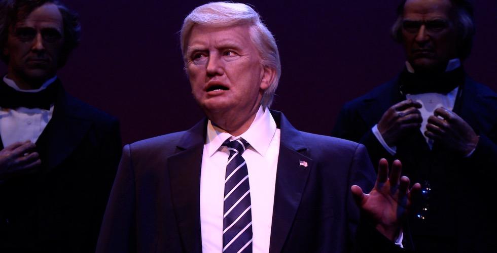 disney trump animatronic hall of presidents disney world