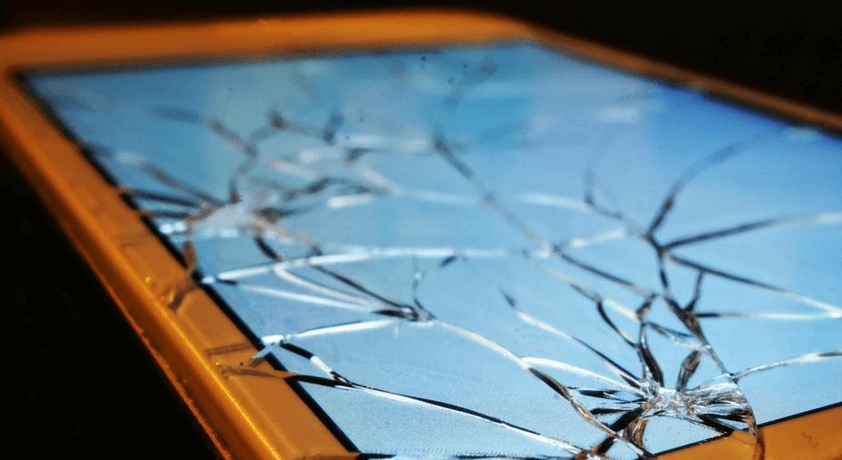 self healing glass polymer cracked screen