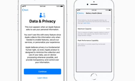iOS 11.3 data and privacy battery health iphone