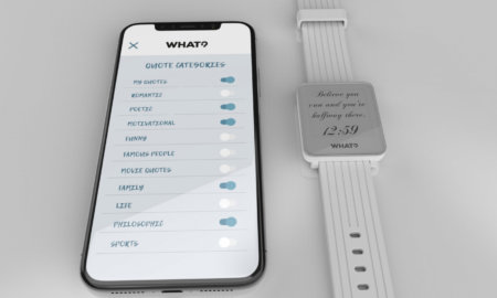 quote smartwatch e-ink smartwatch motivational