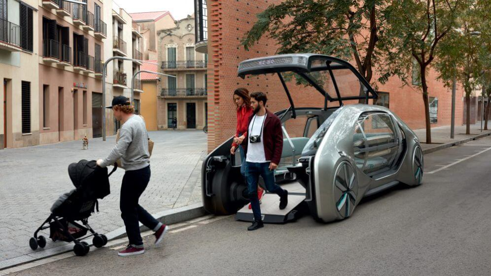 renault ez-go concept self driving electric car