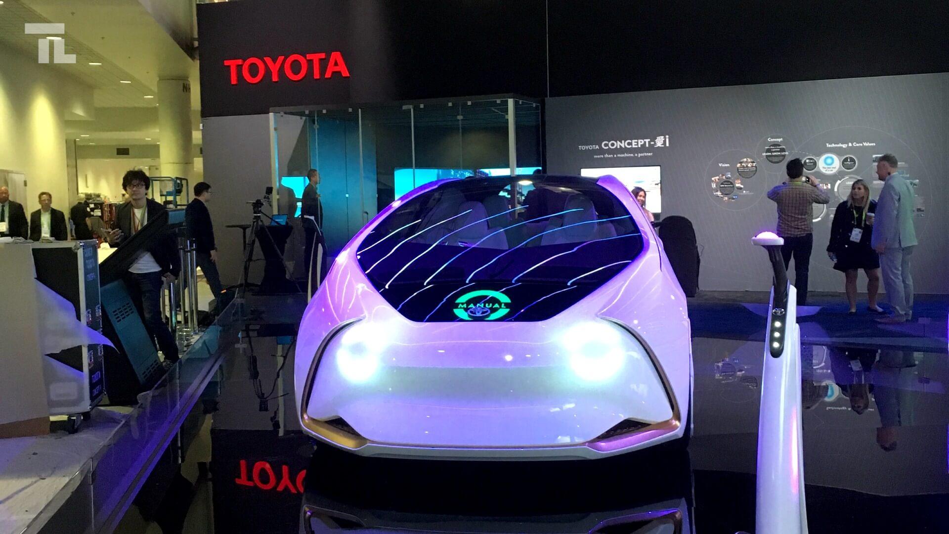 toyota futuristic autonomous car