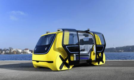 wolkswagen sedric electric self-driving school bus autonomous minibus