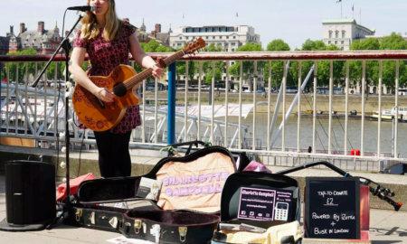 cashless street performers london 2