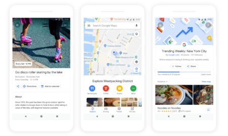 google maps explore tab