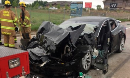 tesla crash utah autopilot model s