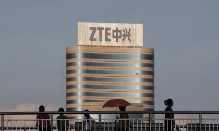 ZTE logo building