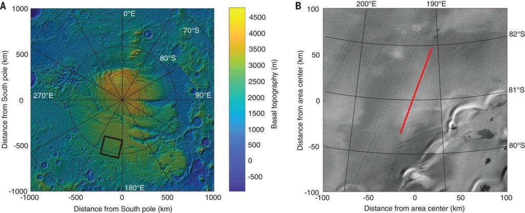 liquid water on mars location