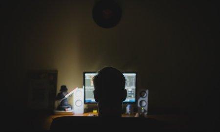 computer hacker man darkness