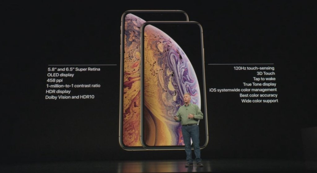 new iphone x s and iphone x max display