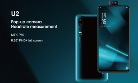 elephone u2 pop-up camera