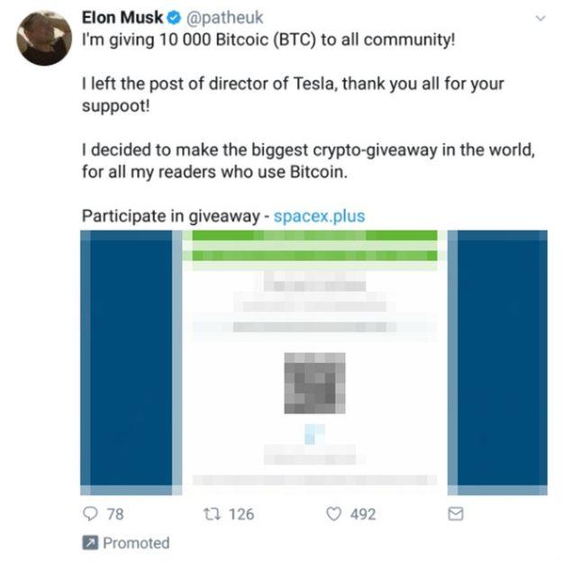 elon musk bitcoin scam hacked twitter accounts 3