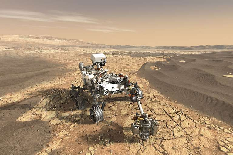 mars landing site for rover mission