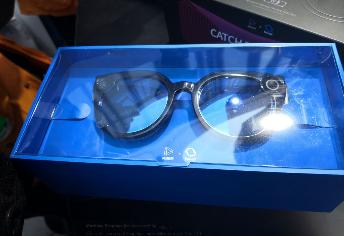 snap spectacles tencent weishi smart glasses