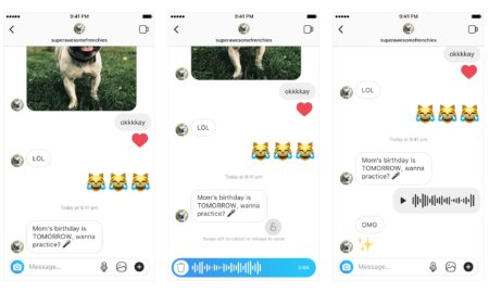 instagram voice message direct