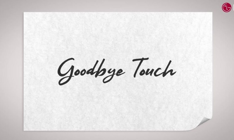 lg goodbye touch lg mwc 2019