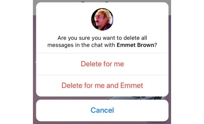 telegram unsend messages delete forever