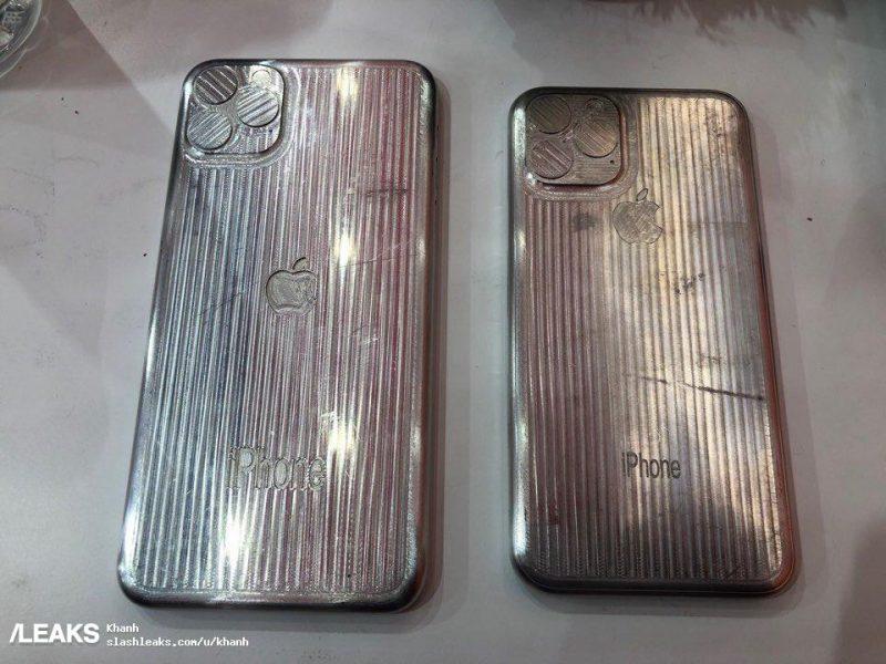 apple iphone XI triple rear camera moulds leak 2
