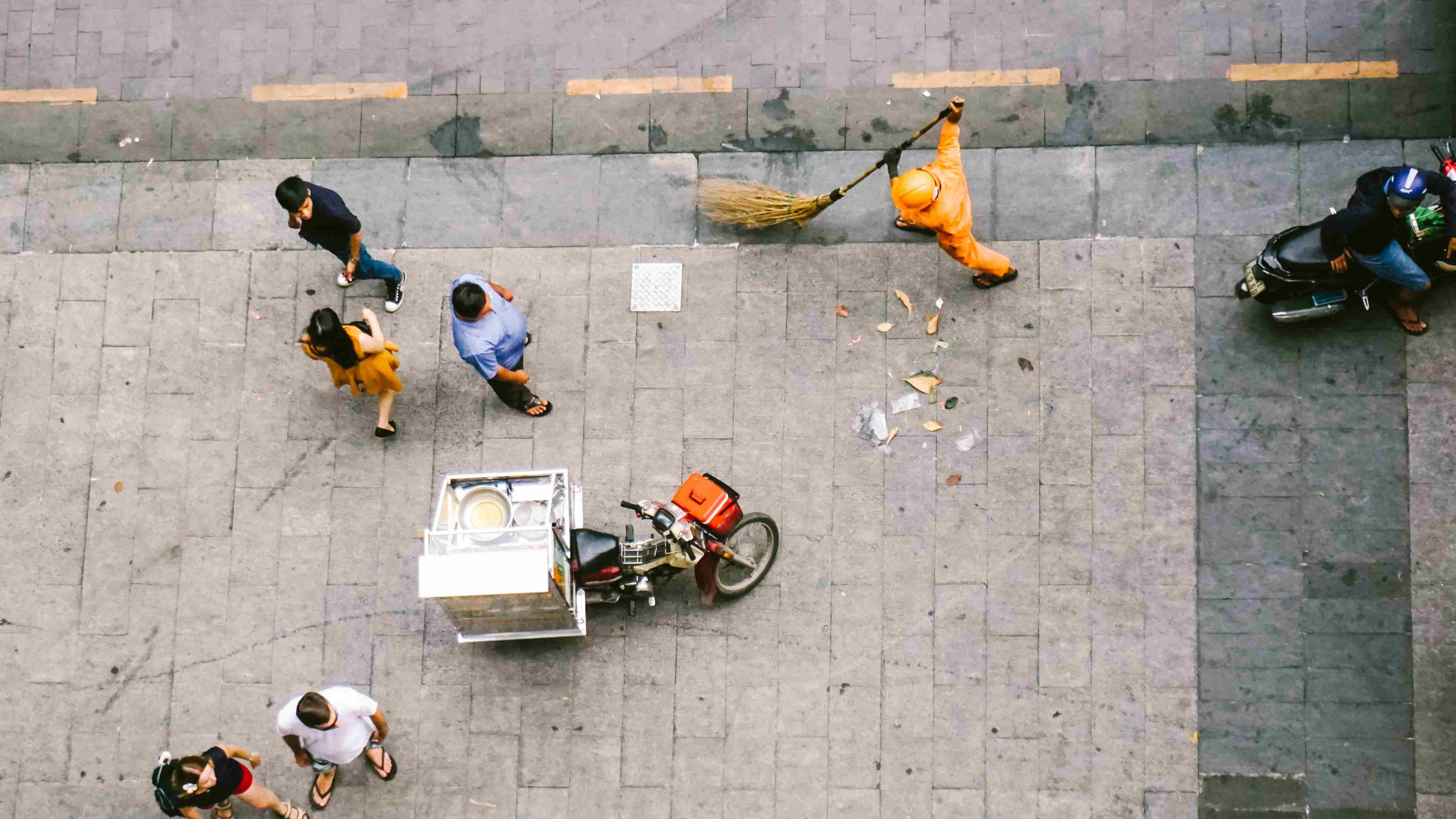 street cleaners china