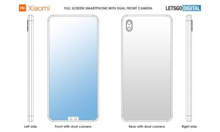 xiaomi patent front camera at bottom