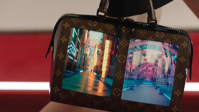 louis vuitton canvas of the future display handbag