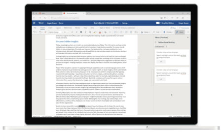 microsoft ideas word online ai spell check