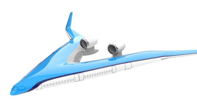 flying v klm airplane