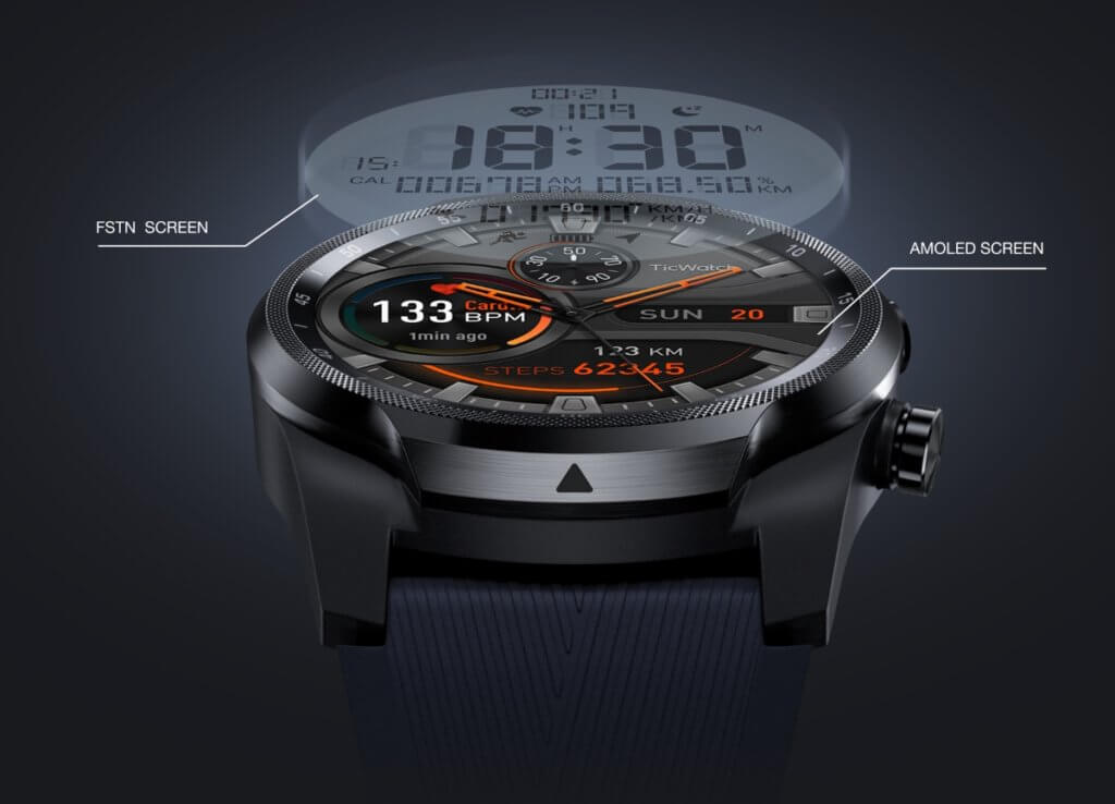 mobvoi TicWatch Pro 4G LTE smartwatch dual screen