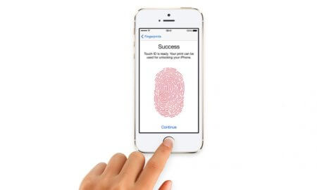 apple in display fingerprint sensor