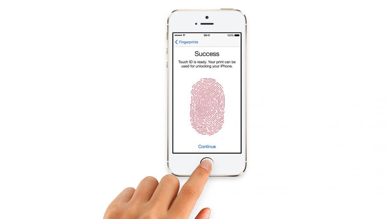 apple in display fingerprint sensor