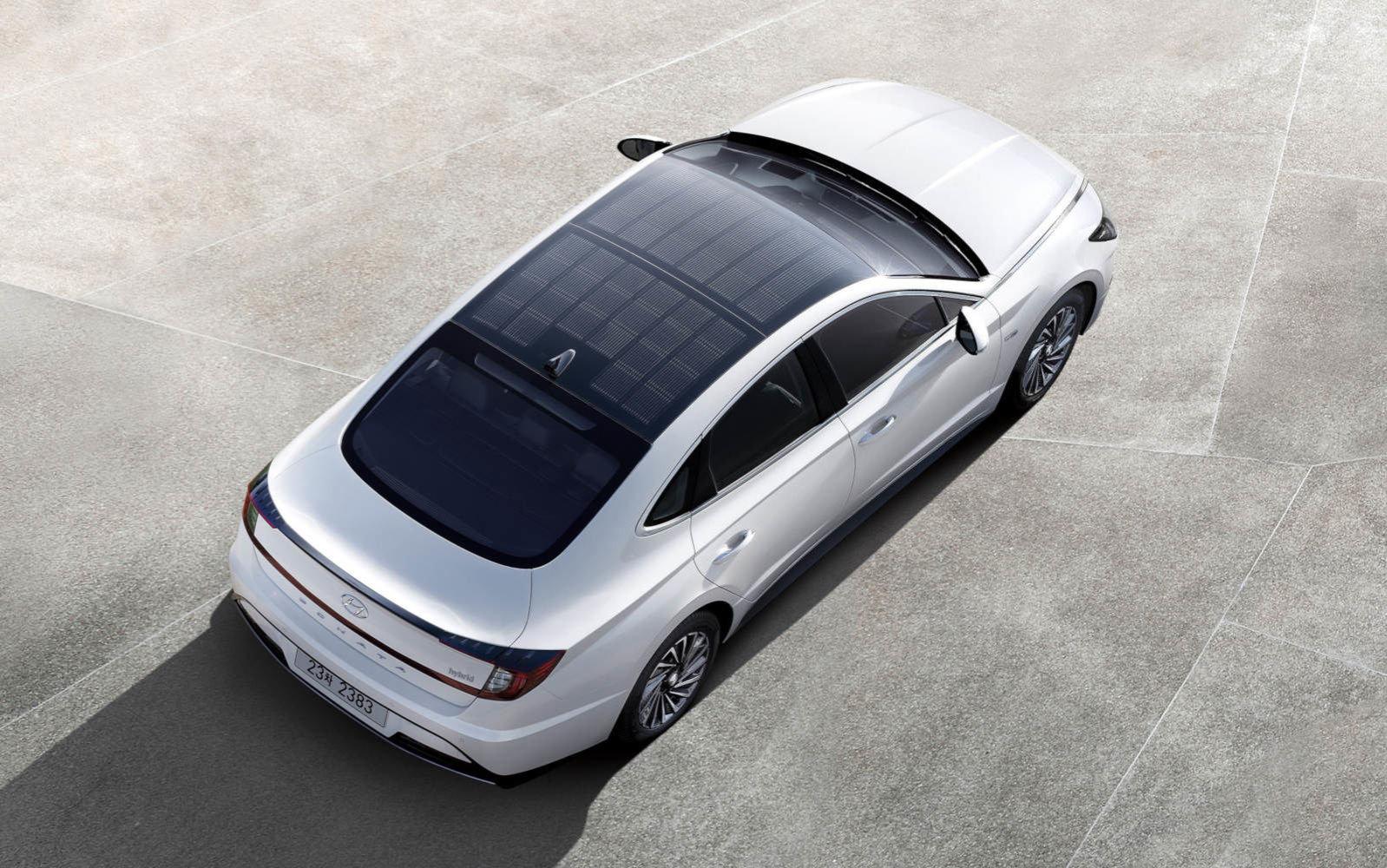 solar roof car hyundai