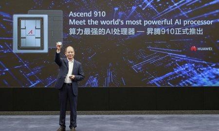 eric xu huawei chairman presenting ascend 910 ai processor