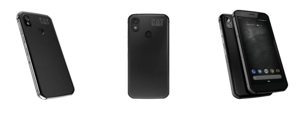 cat s52 rugged smartphone front back side