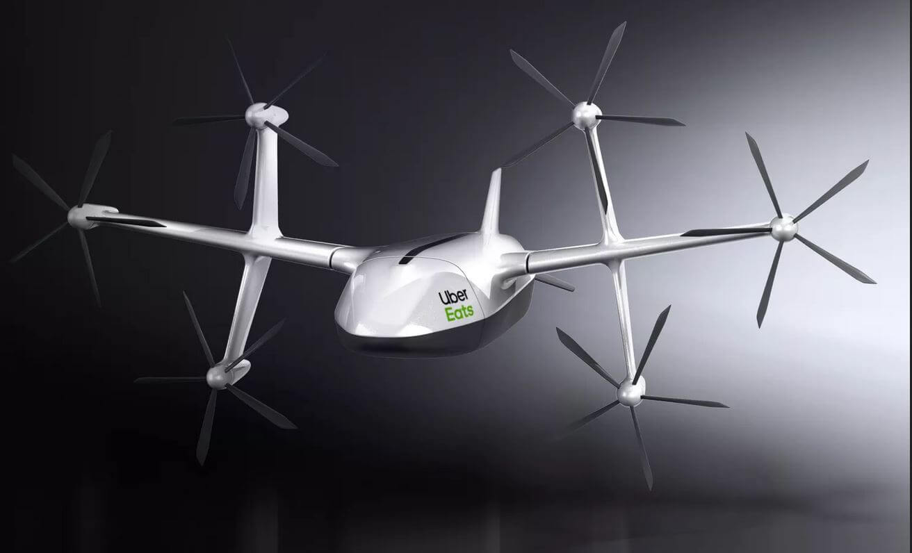 uber eats delivery drone design